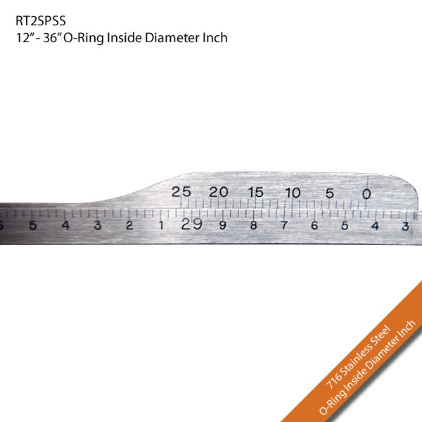 "RT2SPSS 12"" - 36"" Inside Diameter Inches O-Ring"