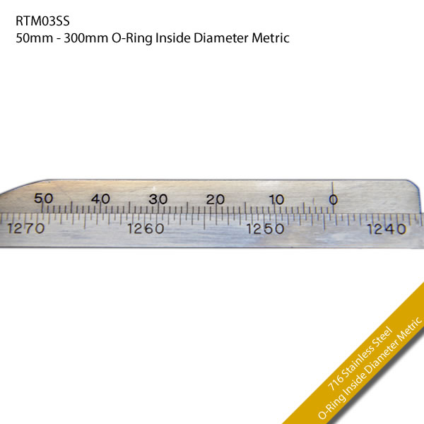 RTM03SS 50mm - 300mm O-Ring Inside Diameter Metric